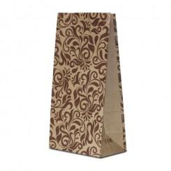 Пакет крафт бурый с дизайном «орнамент»