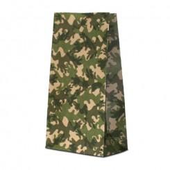 Пакет крафт бурый с дизайном «камуфляж»